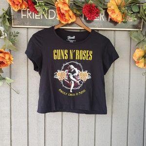 Bravado guns n Roses cropped graphic t-shirt M